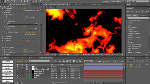 10 Create Semi Realistic Flames with AE's Built In Tools