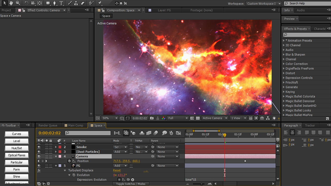 Building a 3d space environment using images and for Space tutorial