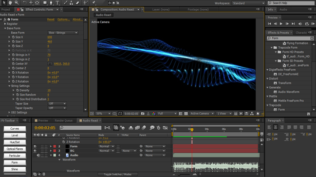 14 NI Audio Reaction Soundwave Using Trapcode Form
