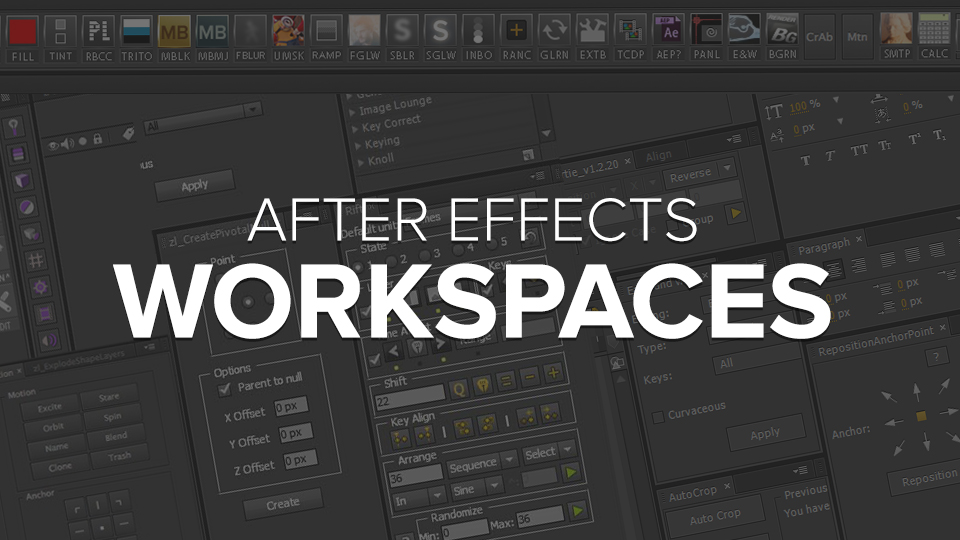 After Effects Workspaces