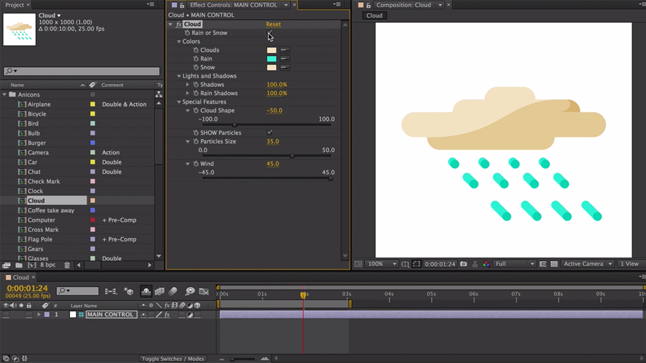 Anicons: Customizable Icon Library for After Effects + Free