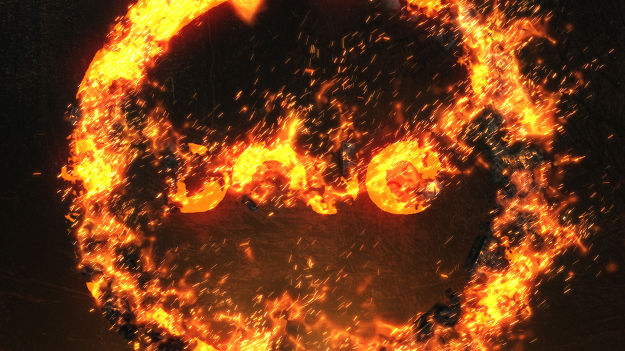 Burning Fire Logo with Trapcode Particular