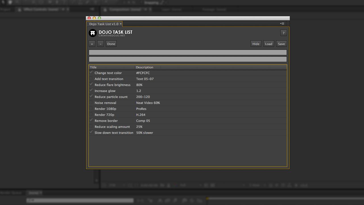 Dojo Task List Screenshot 01
