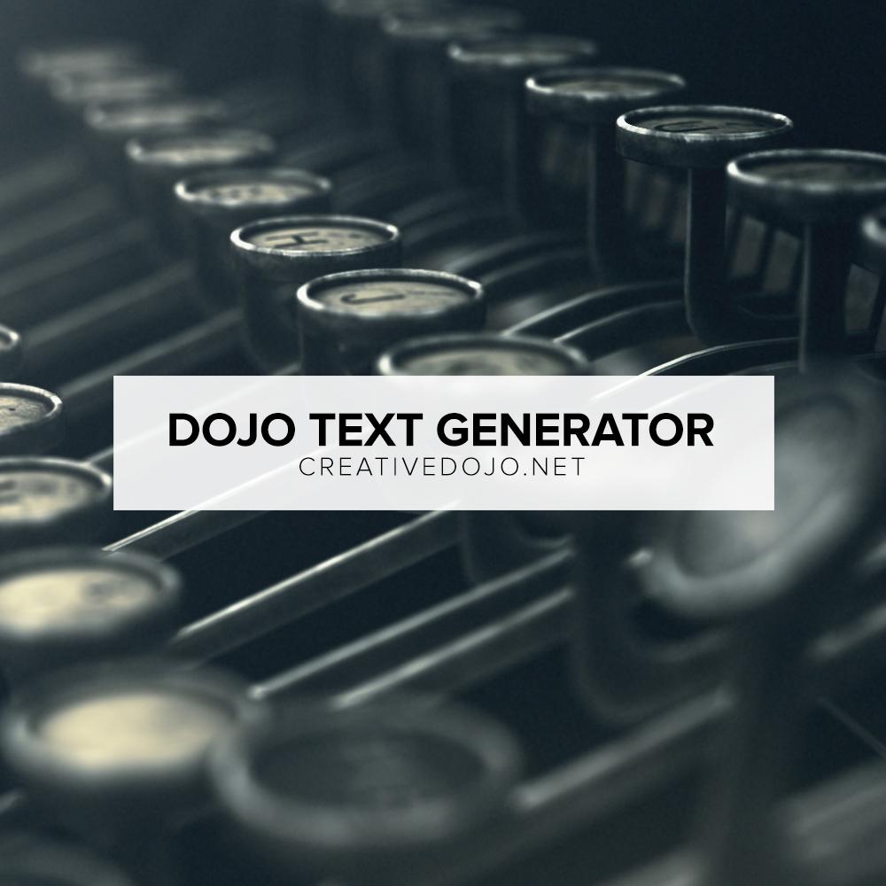 Dojo-Text-Generator-(Square)