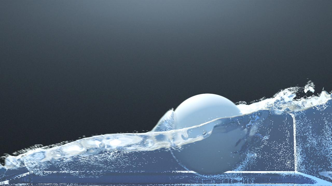 Liquid Simulation X-Particles 02
