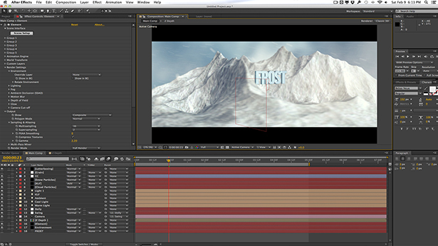 Snow Mountain Titles with Element 3D and Cinema 4D | Creative Dojo