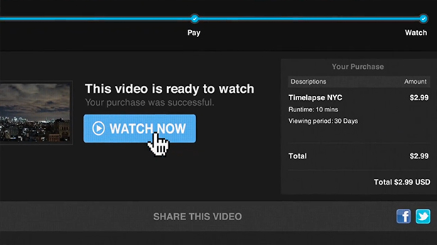 Vimeo Tip Jar and Pay to View